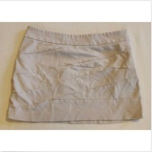 Express Banded Beige Mini Skirt